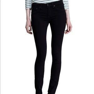 Rag & Bone High Rise Skinny Jean in Black Plush